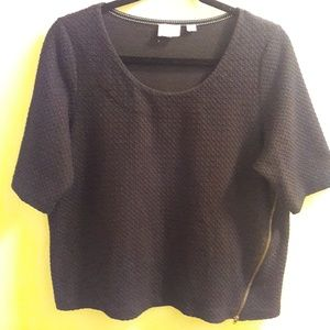 Anthropologie| Postmark waffle knit crop top A429